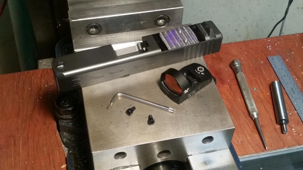 Milling a Glock Slide